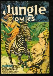 JUNGLE COMICS #89 FICTION HOUSE-KAANGA-1947 SPICY G/VG