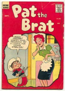 Pat The Brat #22 1957- Archie comics- G/VG