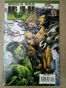 WORLD WAR HULK #5 (2008) SIGNED BY KLUAS JANSON & JOHN ROMITA JR (NO COA)