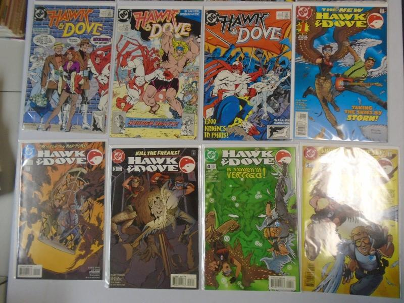 Hawk and Dove (2nd, 3rd + 4th Series) 16 Different 8.0/VF (1988, 1989, 1997)