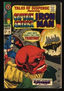 Tales Of Suspense #90 VF- 7.5 Iron Man Captain America Red Skull!