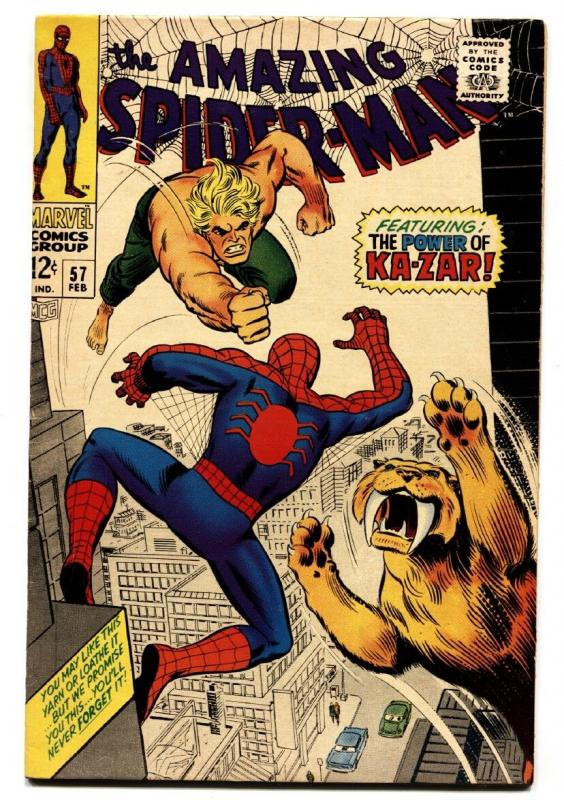 AMAZING SPIDER-MAN #57-comic book MARVEL SILVER AGE FN/VF
