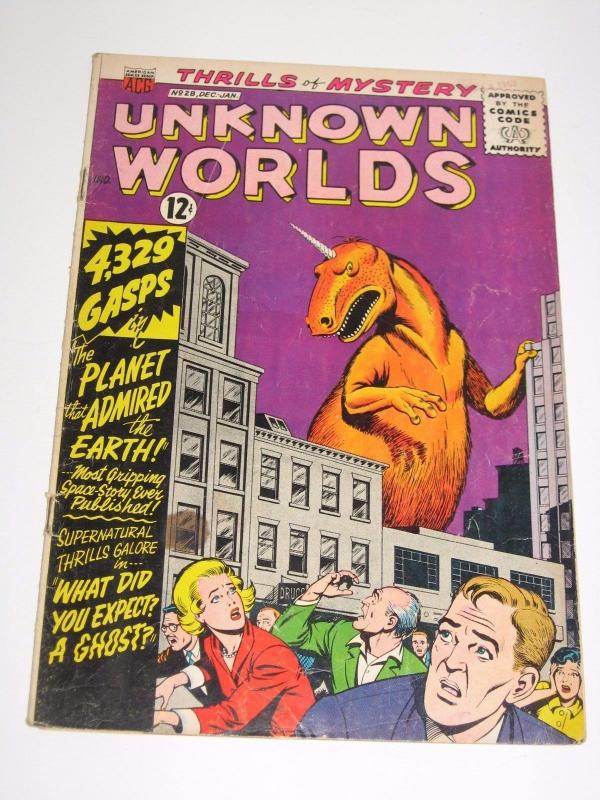 Unknown Worlds #28 (Dec 1963-Jan 1964, American Comics Group) - G/VG Condition