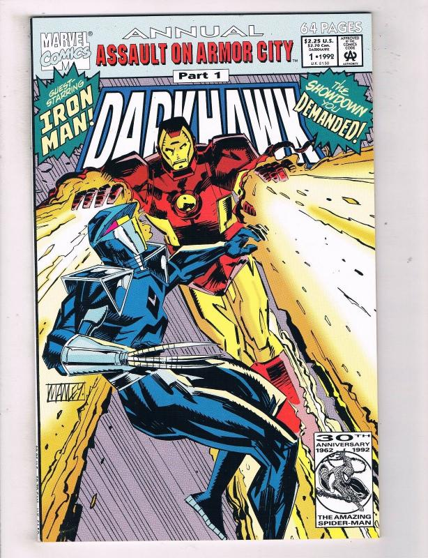Darkhawk Annual #1 VF/NM Marvel Comics Comic Book Iron Man Avengers 1992 DE44
