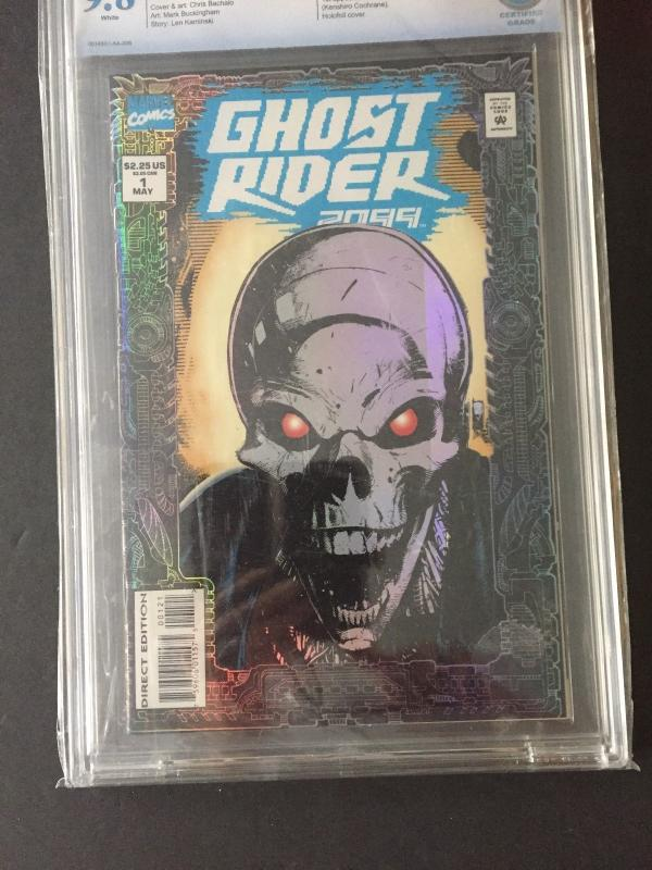 GHOST RIDER 2099 #1 1994 CBCS 9.8 WHITE /FOIL PRISMATIC  COLLECTOR'S EDITION