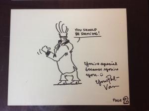 RARE Van Partible Johnny Bravo Original Artwork Cartoon Network One Of A Kind