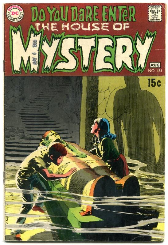 House Of Mystery #181 1969- Wrightson- Egyptology cover- DC horror VG
