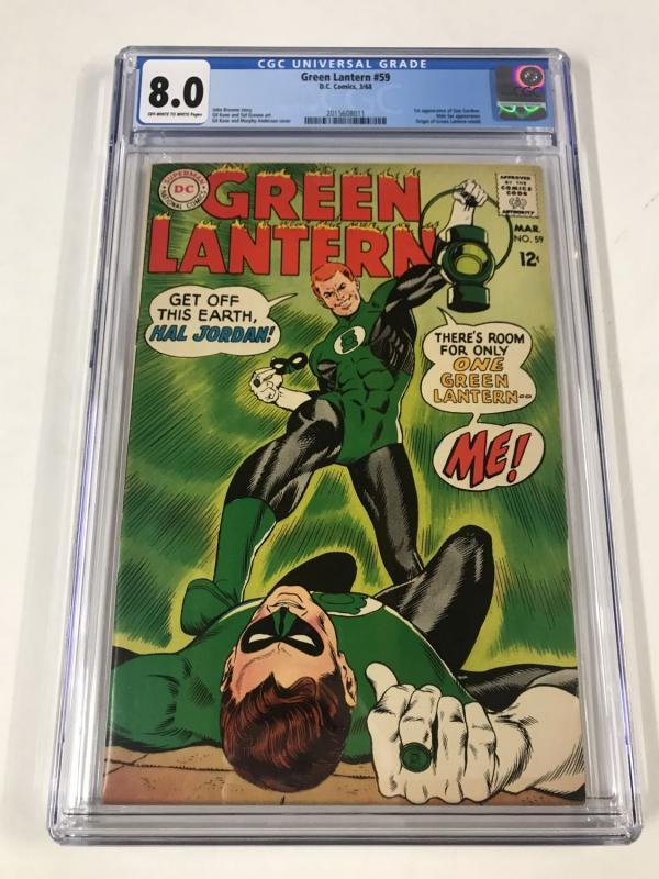 Green lantern (1960's Series) #59 CGC 8.0