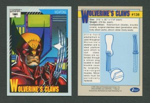 1991 Marvel Comics II  Card  #138 ( Wolverine's Claws)  MINT