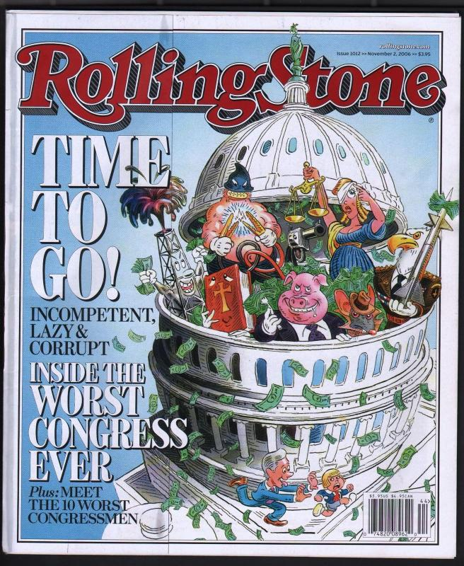 Rolling Stone 11/2/2006-political corruption-Elton John-Neil Young-Townshend-VG