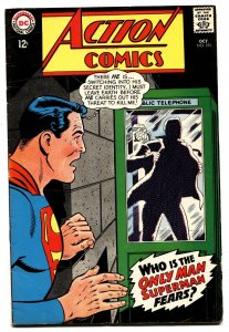 ACTION COMICS #355 comic book 1967-SUPERMAN-PHONE BOOTH COVER-DC FN