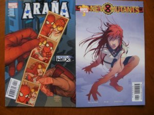 2 Near-Mint Marvel Comic: ARANA #4 (2005) Avery Cruz & NEW MUTANTS #6 (2003)