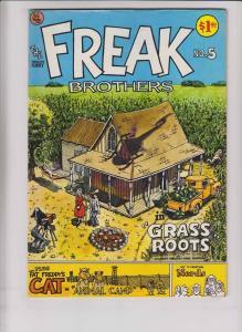 Freak Brothers #5 VF (2nd) rip off press GILBERT SHELTON underground comix