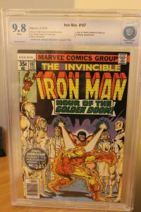 Iron Man #107 (Marvel, 1978) CBCS NM/MT 9.8 White pages