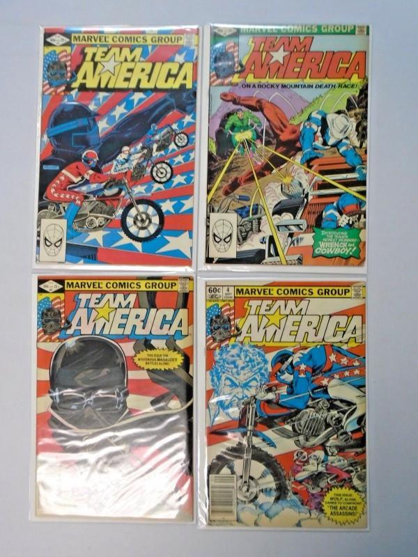 Team America (Marvel 1982) Set:#1-12, 6.0 - 1982