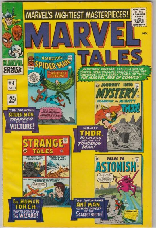 Marvel Tales #4 (Sep-66) VF/NM High-Grade Spider-Man, Thor, Ant-Man, Human Torch