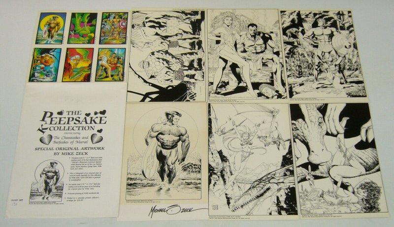 Peepsake Keepsake Collection portfolio (proof set 131) jim lee/george perez/zeck