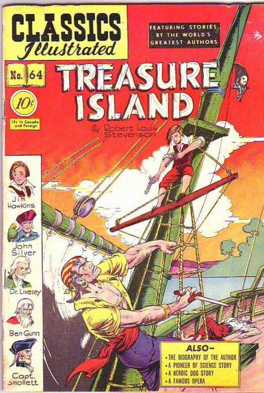 Classics Illustrated #64 (Oct-49) FR/GD Affordable-Grade Jim Hawkins