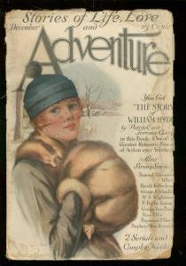 ADVENTURE PULP-DEC 1915-GOOD GIRL ART COVER-RARE PULP FR