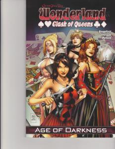 Wonderland Clash of Queens Trade Paperback TPB Grimm Fairy Tales GFT Zenescope