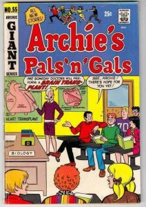 Archie's Pals 'n' Gals 55 Strict FN/VF Mid-High-Grade Biology Class Heart Talk