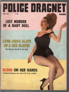 Police Dragnet Cases 2/1958-Love Drug Slave of Sex Slayer-sadists-VG/FN