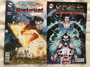 GRIMM FAIRY TALES VS WONDERLAND - Two (2) Issue Lot - #1 and #3