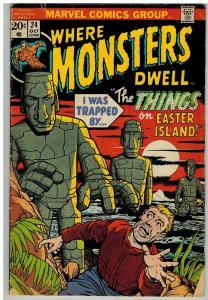 WHERE MONSTERS DWELL 24 GD- Oct. 1973 COMICS BOOK