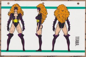 Official Handbook of the Marvel Universe Sheet- Titania