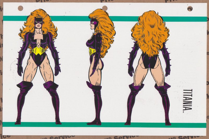 Official Handbook of the Marvel Universe Sheet- Titania