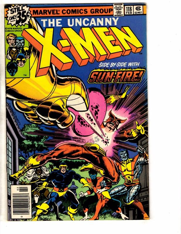 (Uncanny) X-Men # 118 FN Marvel Comic Book Wolverine Sunfire Storm Cyclops JE1