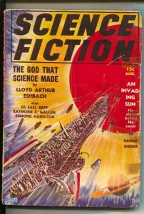 Science Fiction #3 8/1939-Invading Sun cover by Eando Binder-Frank R Paul c...