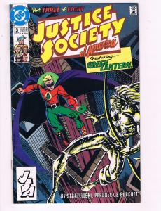 Justice Society Of America #3 VF DC Part 3 Of 8 Comic Book Green Lantern 91 DE12