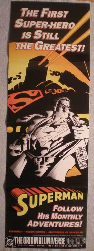SUPERMAN  Promo poster, 11 x 34, 2002, Unused, more in our store