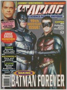 Starlog #216 Batman Forever Judge Dredd Star Trek VF