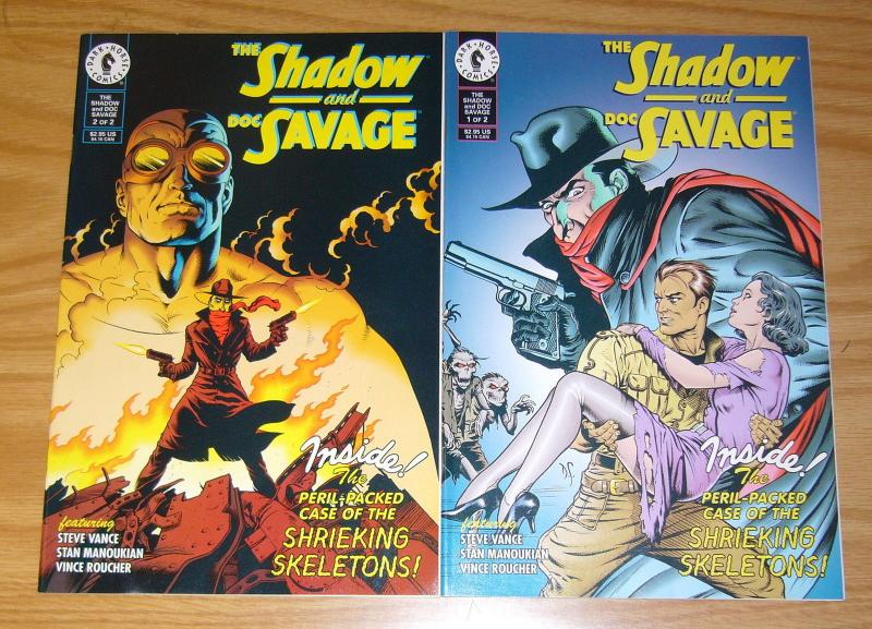 the Shadow and Doc Savage #1-2 VF/NM complete series - dave stevens - dark horse