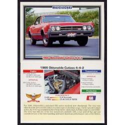 1992 Collect-A-Card Musclecars 1966 OLDSMOBILE CUTLASS 4-4-2 #68