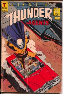 THUNDER Agents #7 1966-Tower-Dynamo-Iron Maiden-Wood-Menthor-G/VG