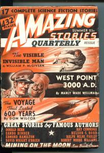 Amazing Stories Quarterly Pulp Summer 1941-CUMMINGS-FARLEY-WILLIAMS-HAMILTON