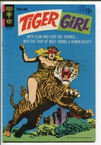 TIGER GIRL #1 1968-GOLD KEY-1st ISSUE-TIGER COVER-fn/vf