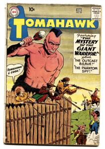 TOMAHAWK #64 1959- DC WESTERN -SCI FI ISSUE-GIANT INDIAN- SILVER AGE
