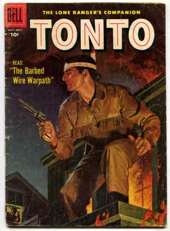 Tonto #27 1957-Dell Western-Lone Ranger's companion VG-