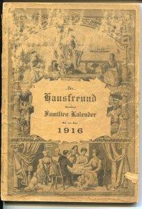 Der Hausfreund Illustrated 1916-German language pub-100+years old-G/VG