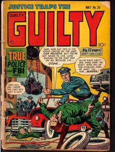 JUSTICE TRAPS THE GUILTY #26-VIOLENT POLICE ASSAULT CVR FR/G
