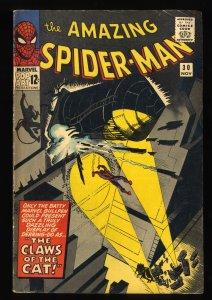 Amazing Spider-Man #30 VG+ 4.5 1st Cat(Burglar)! Marvel Comics Spiderman