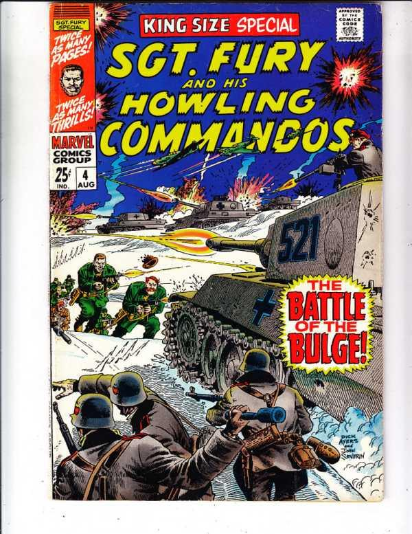 Sgt. Fury and His Howling Commandos King-Size Special #4 (Aug-68) FN/VF+ Mid-...