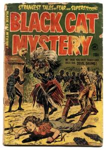 BLACK CAT MYSTERY #43-WOMEN TIED UP AND MENACED ON CVR 1953-incomplete
