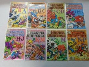 Official Handbook of the Marvel Universe Set: #1-15 Average 8.0 VF (1983)