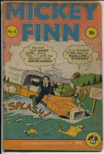Mickey Finn #6 1945-Lank Leonard art-car crash-newspaper strip-VG
