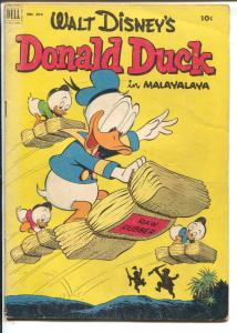 Donald Duck-Four Color Comics #394 1952-Dell-Carl Barks-In Malayalaya-G+